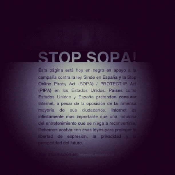 sopa Stop SOPA - Sinde #18