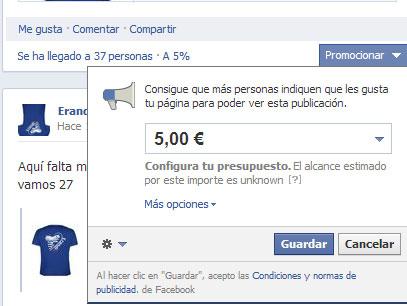 promocionados - Llegan las promociones al muro de facebook en España - Promocionados Facebook