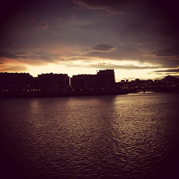 Anochece en Erandio #instagram