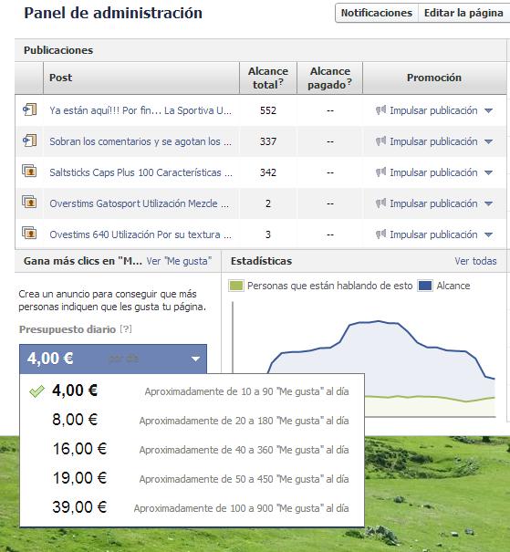 facebook pages impulsar - Impulsar páginas de facebook - Facebook Pages Impulsar