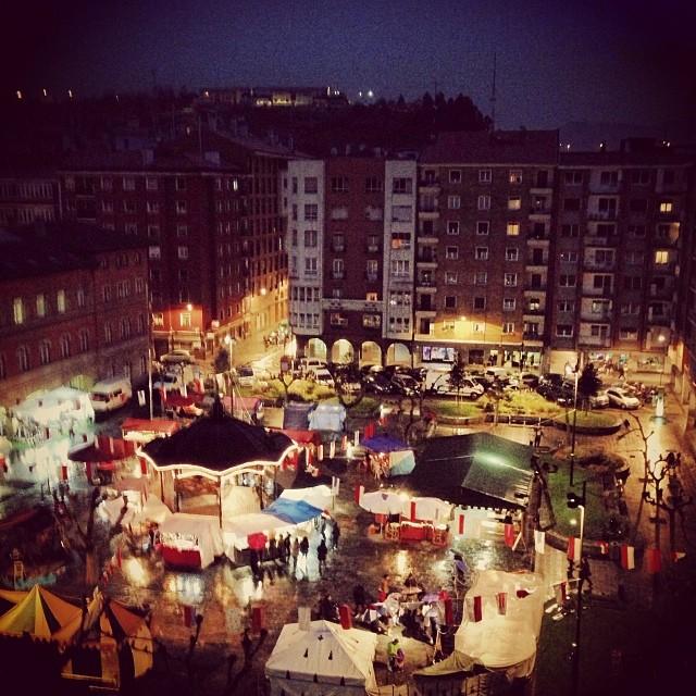 Mercado de Erandio por la noche #instagram -